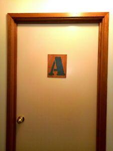 Custom Kids Bedroom Door Letter Signs Choose Your Letter Colour