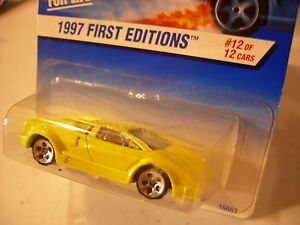 hot wheels 25th anniversary lamborghini countach 1997 first editions yellow. Black Bedroom Furniture Sets. Home Design Ideas