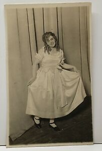 RPPC-Actress-Theater-Dancer-Stage-Actor-Real-Photo-Postcard-G6