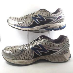 New Balance Mens 860 V2 Lace Up Running Shoes Sliver Blue M860SB2 ...
