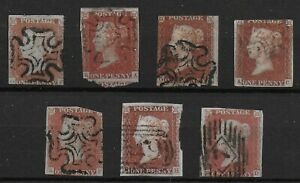 SG8-8a-1841-Imperf-1d-7-Examples-5-With-Maltese-X-Cancels-Cat-200-Ref-06116