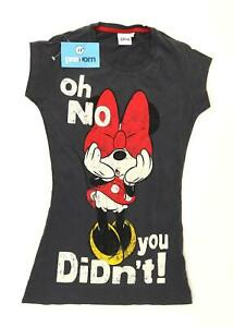 Atmosphere-Womens-Size-8-Graphic-Cotton-Grey-Minnie-Mouse-T-Shirt-Regular