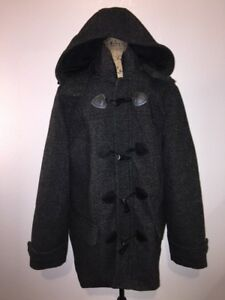 Express Men S Large Hooded Wool Blend Toggle Top Coat