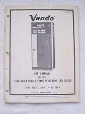 Vintage 1973 VENDO COCA-COLA CAN SODA VENDING MACHINE PARTS MANUAL