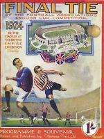 FA CUP FINAL 1924 REPRINT: Aston Villa v Newcastle Utd
