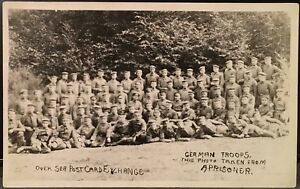 Military-Real-Photo-RPPC-WW-I-German-Troops-This-Photo-Taken-From-a-Prisoner
