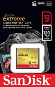 SanDisk 32 GB CF Compact Flash Memory Card Per Fotocamera 4K Full HD