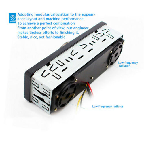 1Din Car In-dash MP3 Stereo Audio Player Bluetooth 2 Speaker USB//TF Card//FM//MP3