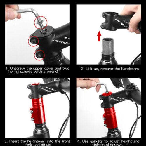Vélo Vélo Guidon Riser Bicyclettes Fourche Tige Raiser Extender Head QK