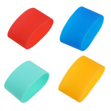 Reusable Silicone Spill Resistant Non-slip Water Bottle Mug Cup Sleeve N7