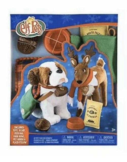 Elf on the Shelf PETS Good Tidings Tote Scarf Set St Bernard Reindeer