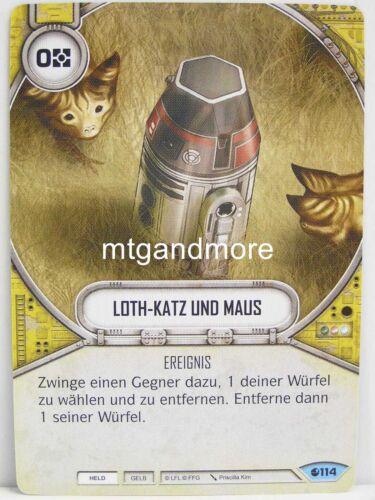 Star Wars Destiny 3x #114 Loth-Chat et Souris-Esprit de rébellion
