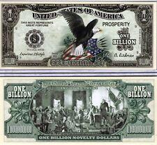 FREE SLEEVE Eagle w// Stars Stripes Billion Dollar Bill Funny Money Novelty Note