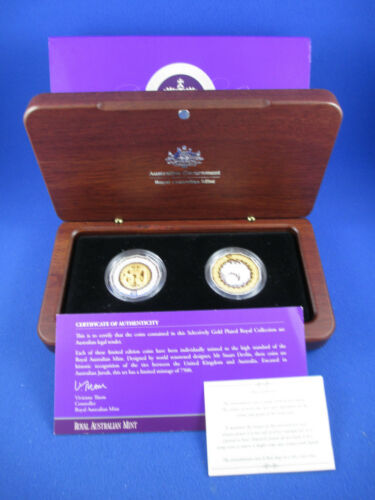 R.A.M 2006 50c Selectively Gold Plated Silver Proof Coin Set
