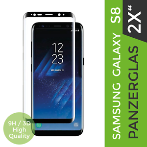 2x-Samsung-Galaxy-S8-Panzerglasfolie-034-BLACK-034-Full-Screen-Schutz-Full-Curved-9H