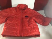 Red Jacket Old Navy 6-12 Months, Solid Color, Polyester