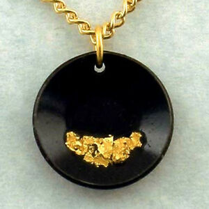 Gold Pan Necklace Flakes Of Pure Gold Miner Prospector