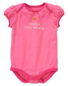GYMBOREE-BRAND-NEW-BABY-PINK-w-BIRD-Daddy-039-s-Little-Tweety-BODYSUIT-0-3-6-NWT