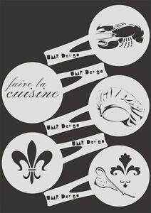 Bäckereiausstattung Keksschablone Kaffee Barista TK-005 cuisine ~ cookie stencil ~ UMR-Design