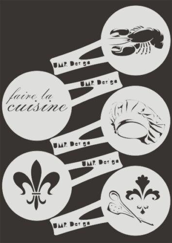 Keksschablone Kaffee Barista TK-005 cuisine ~ cookie stencil ~ UMR-Design