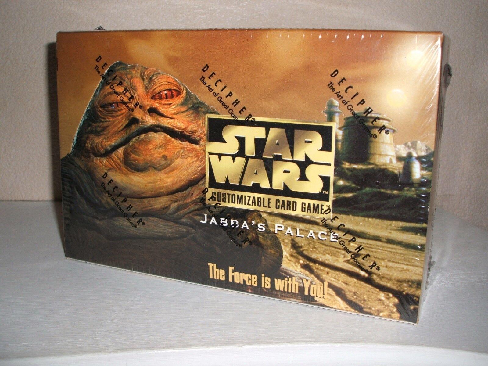 DECIPHER STAR WARS JABBA'S PALACE LTD EDITION EXPANSION SET FACTORY SEALED BOX