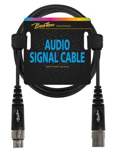CAVO CANON PER SEGNALE AUDIO MICROFONO XLR F XLR M 6 METRI NERO BLACK BOSTON
