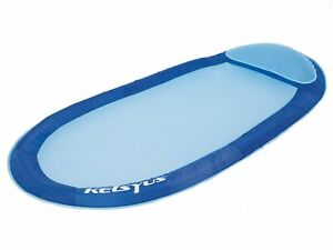 Kelsyus Floating Hammock Inflatable Swimming Pool Float Lounger Raft, Blue