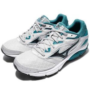 Mizuno-Wave-Surge-Grey-Green-Black-White-Women-Running-Shoes-Trainer-J1GD17-1309
