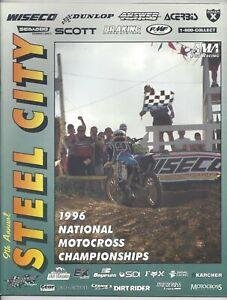 Vintage Steel City Nationals 1996 AMA Motocross Program Mike Brown Honda