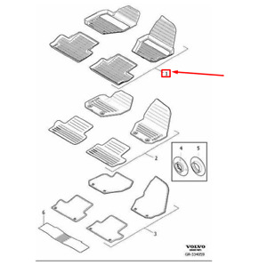 Oem Volvo Xc60 Floor Mats Set Rhd 39822895 Genuine Ebay