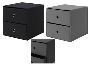 Ikea FLARRA Mini chest with 2 drawers For Storage Organising Black /& Grey 33x38