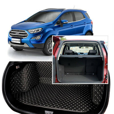 Large Heavy Duty Black Rubber /'Trim fit/' Car Boot Mat Liner for Ford Ecosport