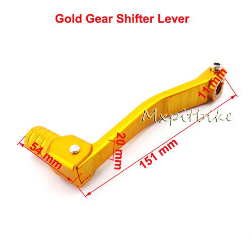 CNC Gold Gear Shifter Lever For 110cc 125cc 140cc 150cc Lifan YX Pit Dirt Bike