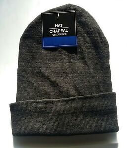 a1f22a37 Details about BLACK FLEECE LINED Mens Womens KNIT CUFF Beanie Hat Watch Cap  Warm Winter NWT