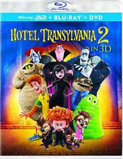 3D Hotel Transylvania 2 NEW Blu-ray/2D Blu-ray/DVD/UV Digital in Slip Case