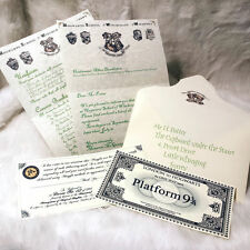 Harry Potter Hogwarts Acceptance Letter, + Hogwarts Express Train Ticket