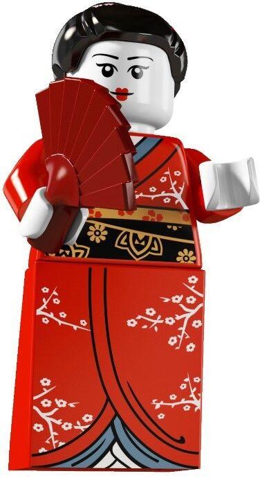 Lego minifigures serie 4 collezione Ragazza con Kimono   geisha   nuova 8804
