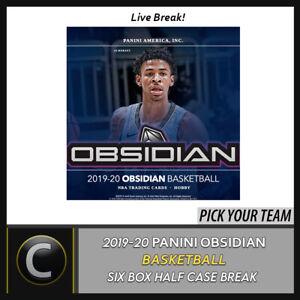2019-20-PANINI-OBSIDIAN-BASKETBALL-6-BOX-HALF-CASE-BREAK-B436-PICK-YOUR-TEAM