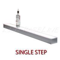 36 1 Tier Led Lighted Liquor Display Shelf - Stainless Steel Finish