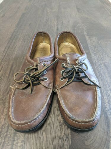 Quoddy Moccasin Blucher Brown Leather US 8