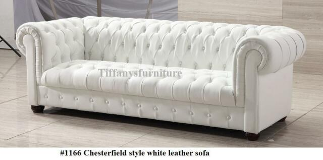 Magnificent Gorgeous Chesterfield Style Modern White Genuine Italian Leather Sofa 1166 Ocoug Best Dining Table And Chair Ideas Images Ocougorg