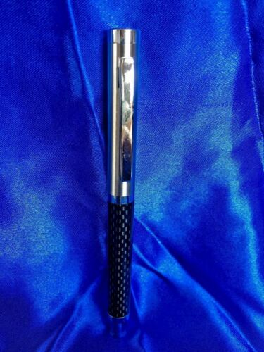 patterned black metal and chrome Foray Signature rollerball pen