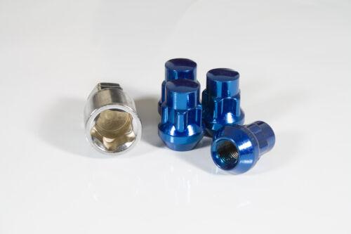 4 x Blue Locking Wheel Nuts M12x1.5 Fits Volvo V40 S40 V50 C30 C70 S90 V90