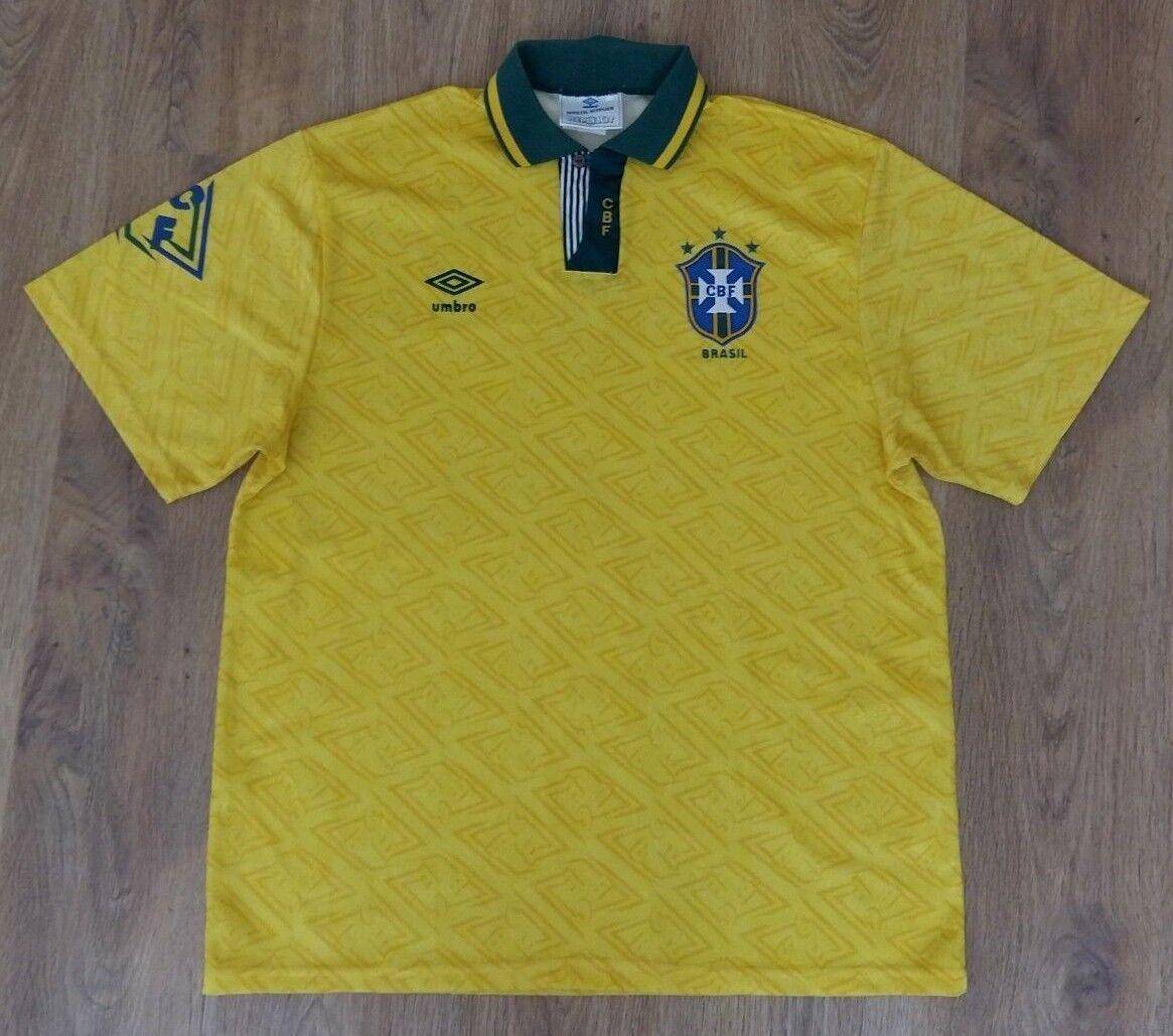 Brazil 1991 - 1993 rare vintage home shirt size XL