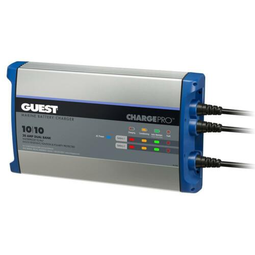 2 Bank 12V Guest On-Board Battery Charger 20A 120V Input