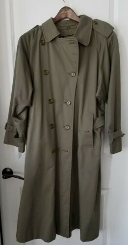 Vintage Classic Burberry Olive Green Women's Size