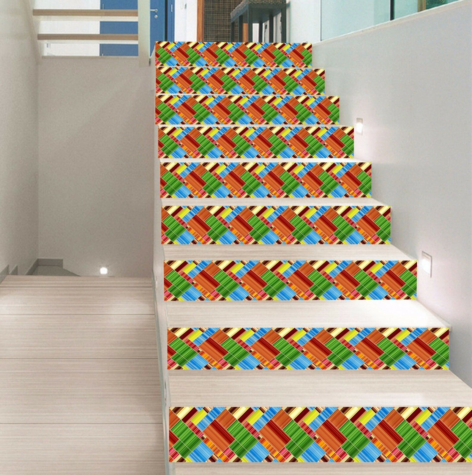 3D Grids Pattern 28 Stair Risers Decoration Photo Mural Vinyl Decal WandPapier AU