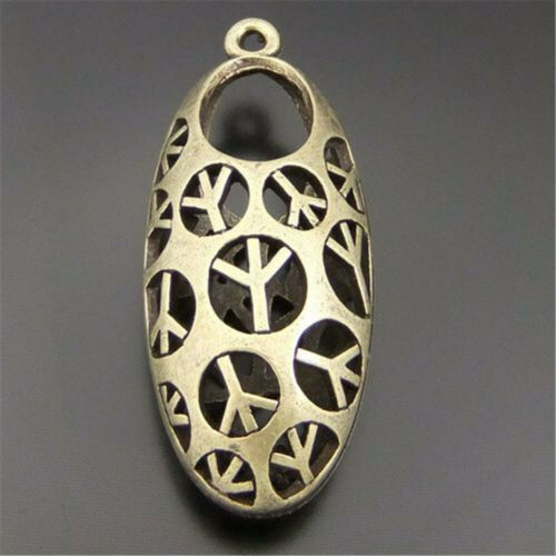 5pcs Alloy 40x19x13mm Bronze Hollow Peace Cylinder Pendant DIY Charms Accessory