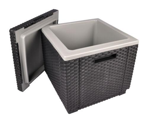 Allibert Kühlbox Beistelltisch Getränkekühler Kühlkiste Fußhocker Pflanzkübel