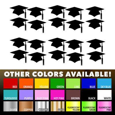 Graduation Cap Decal Grad Year School Graduate Window Bumper Sticker Car Decor
